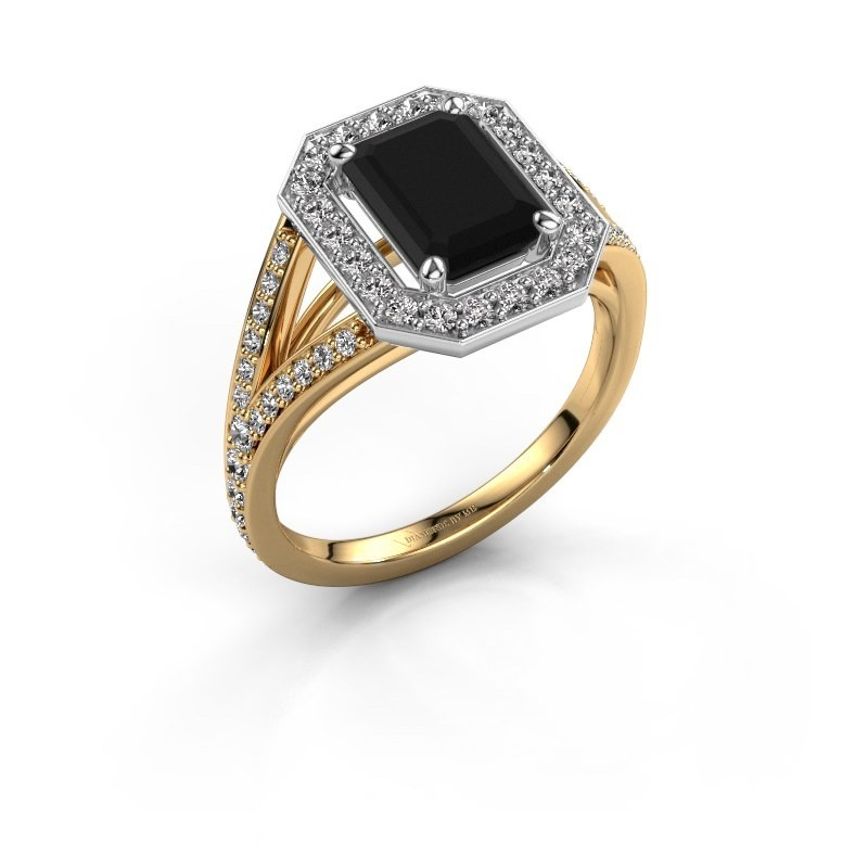 Promise ring Angelita EME 585 goud zwarte diamant 2.629 crt