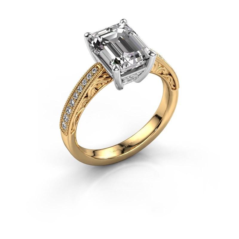 Engagement ring Shonta EME 585 gold diamond 1.28 crt