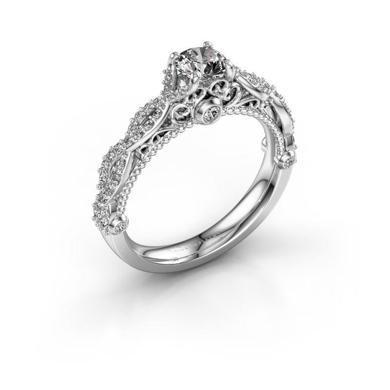 Verlovingsring Chantelle 950 platina diamant 0.805 crt