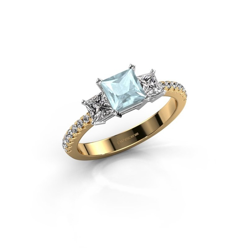 Engagement ring Dorla 585 gold aquamarine 5 mm