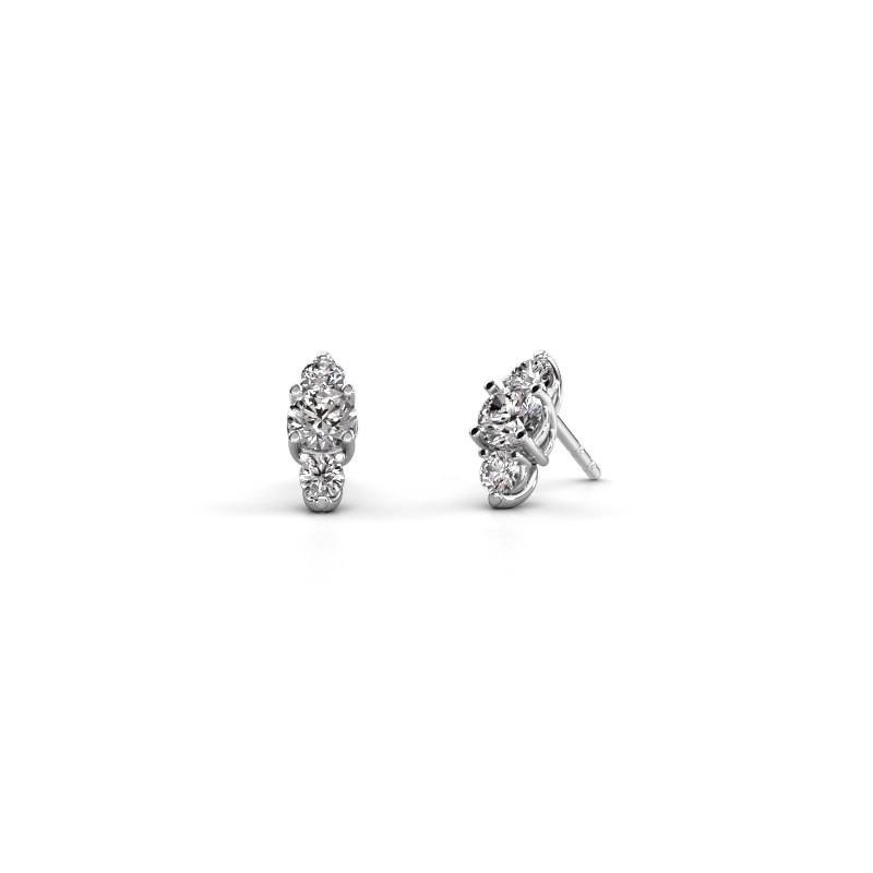 Oorbellen Amie 950 platina diamant 1.40 crt