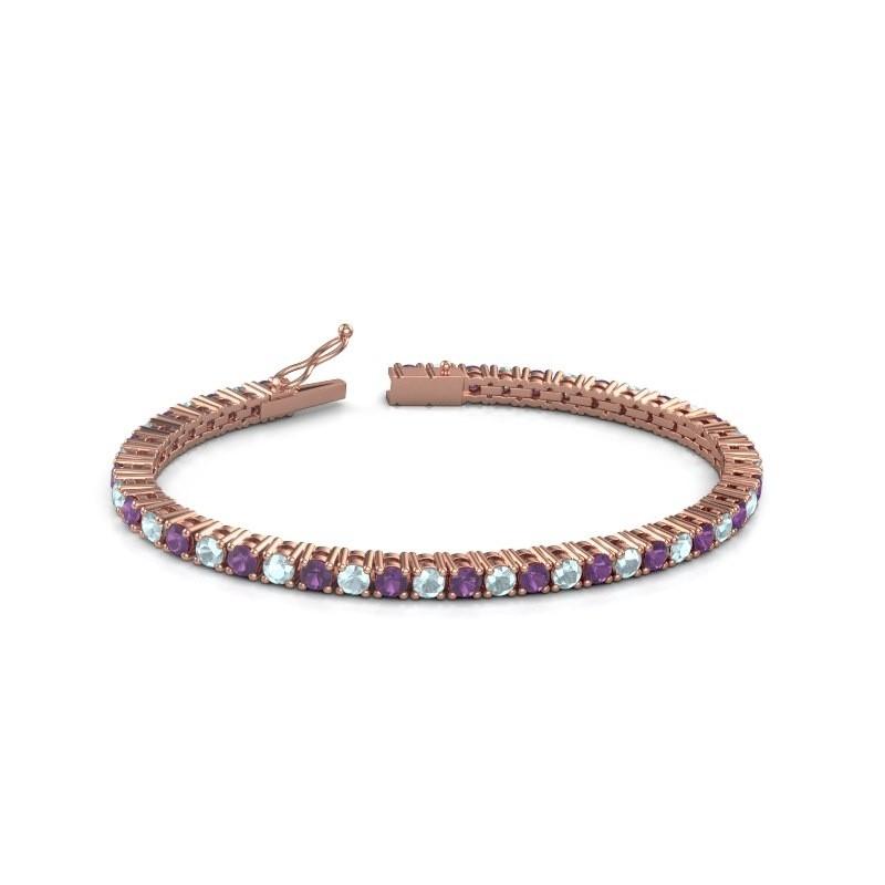 Tennisarmband Jenny 375 rosé goud amethist 3.5 mm