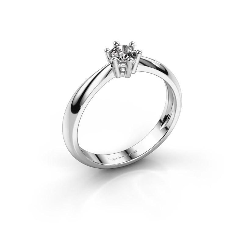 Verlovingsring Fay 585 witgoud diamant 0.30 crt