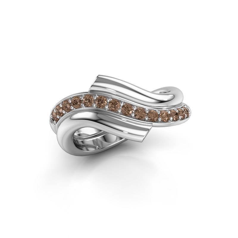 Ring Guusje 925 silver brown diamond 0.35 crt
