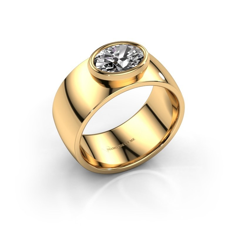Ring Wilma 1 585 goud zirkonia 8x6 mm