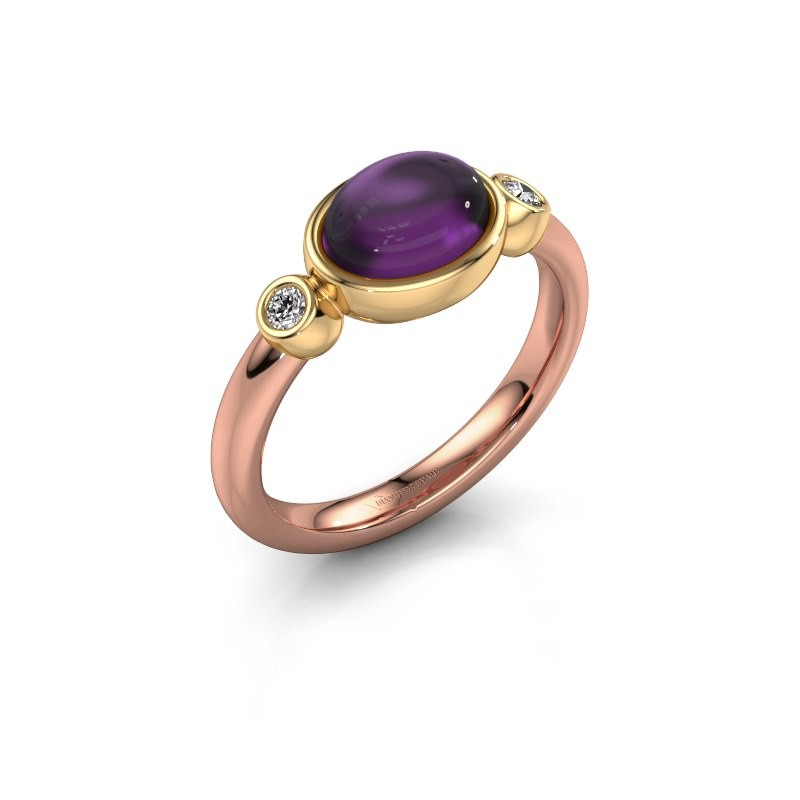 Ring Liane 585 rose gold amethyst 8x6 mm