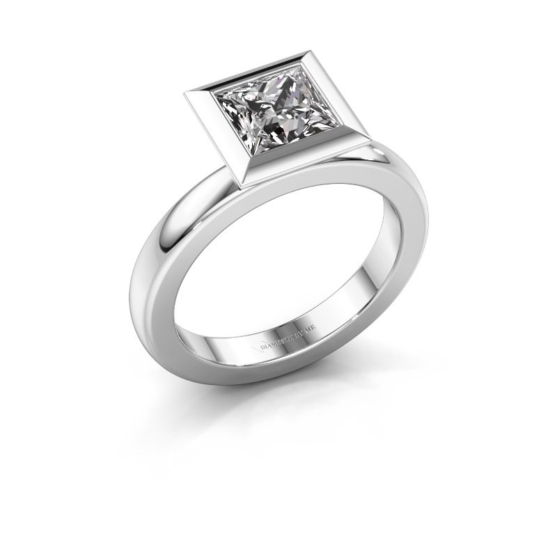 Steckring Trudy Square 950 Platin Lab-grown Diamant 1.30 crt