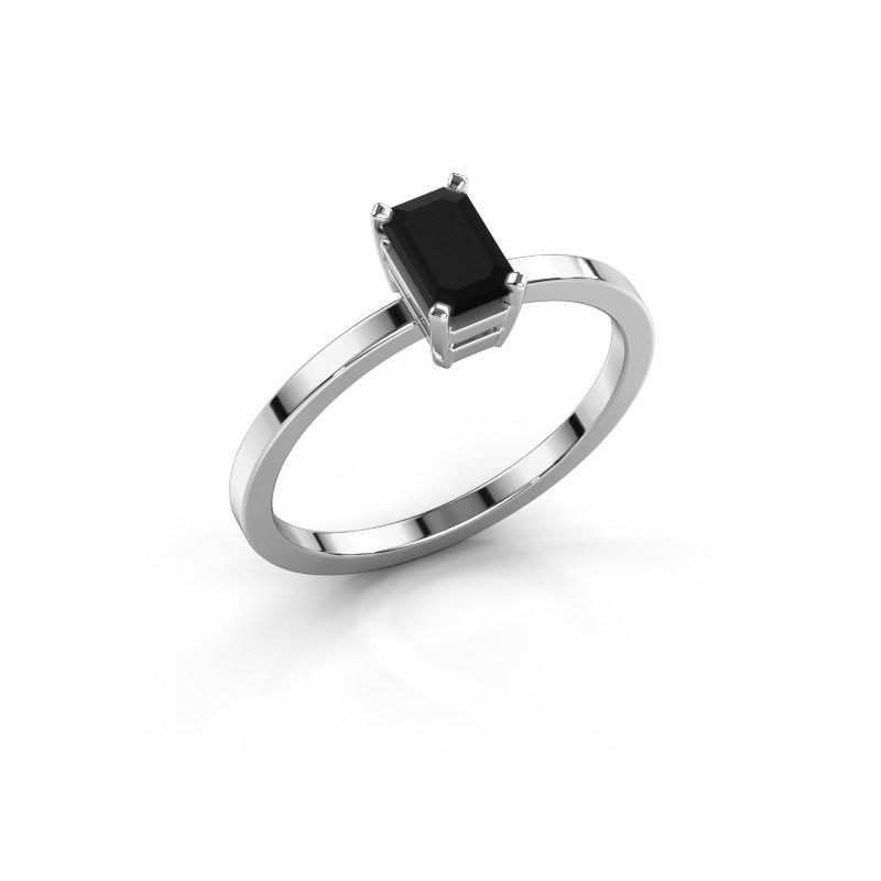 Verlobungsring Denita 1 950 Platin Schwarz Diamant 0.84 crt