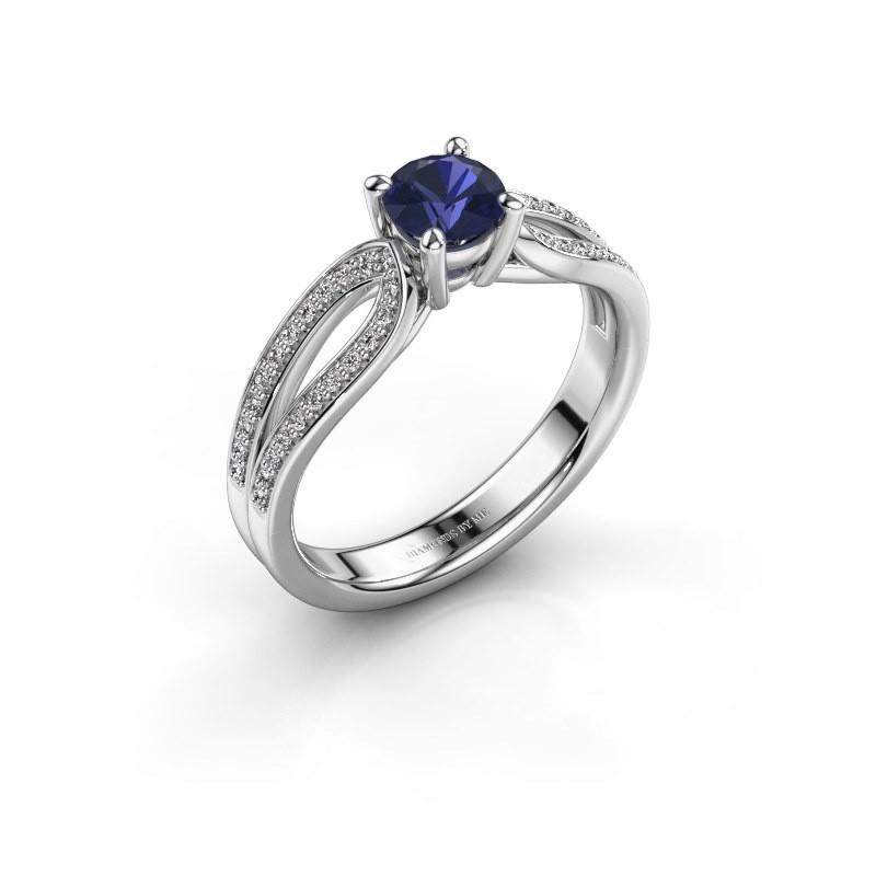 Engagement ring Antonia 2 585 white gold sapphire 5 mm