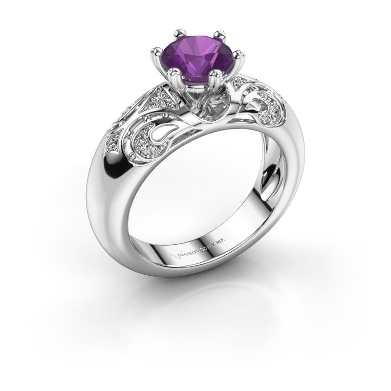 Ring Maya 950 Platin Amethyst 6.5 mm