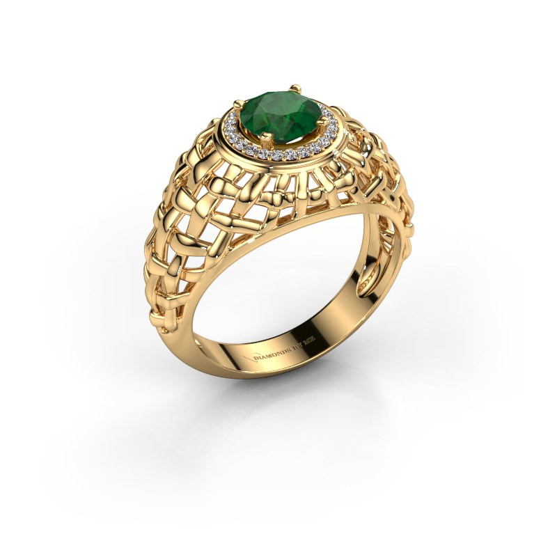 Pinky Ring Jens 585 Gold Smaragd 6.5 mm