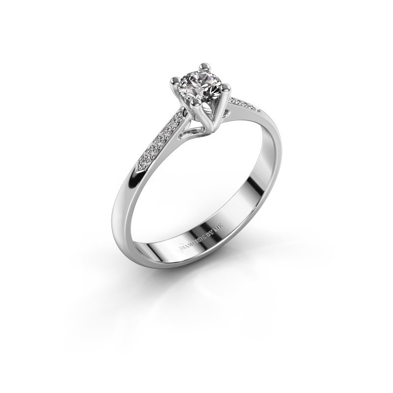 Promise ring Janna 2 950 platina zirkonia 4 mm