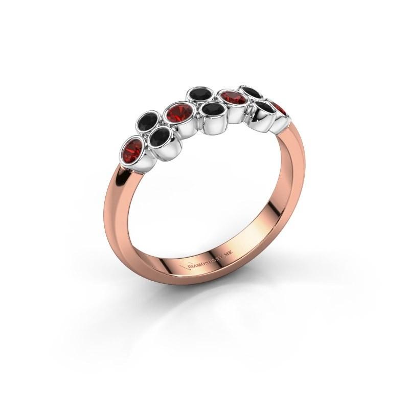 Ring Kayleigh 585 Roségold Granat 2.4 mm