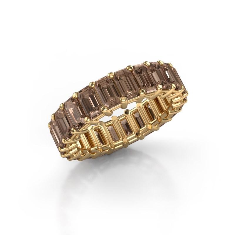 Ring Heddy EME 5x3 375 Gold Braun Diamant 6.38 crt