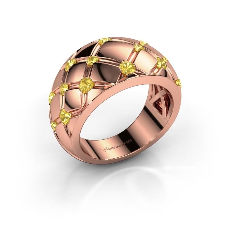 Ring Imke 375 Roségold Gelb Saphir 2.5 mm