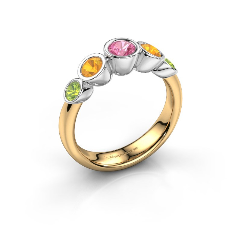 Ring Lizz 585 gold pink sapphire 4 mm