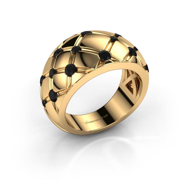 Ring Imke 585 gold black diamond 0.936 crt