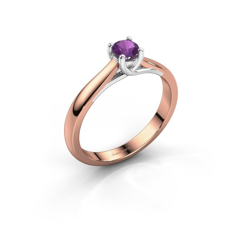 Engagement ring Mia 1 585 rose gold amethyst 4 mm