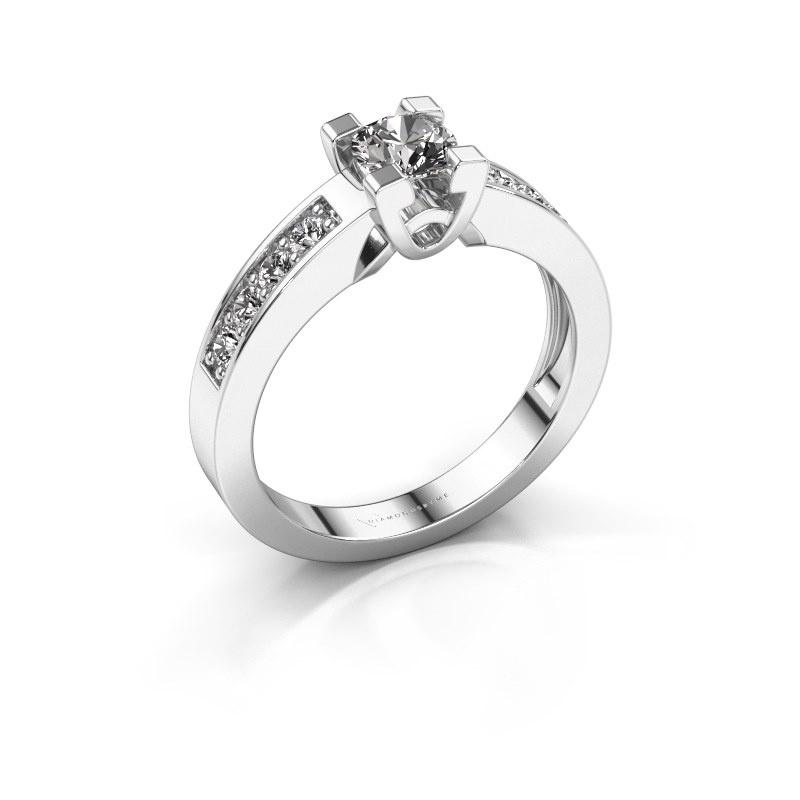 Verlovingsring Nina 2 925 zilver diamant 0.74 crt