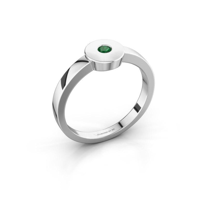 Ring Elisa 925 silver emerald 3 mm