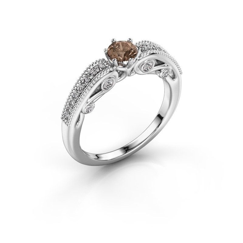 Verlobungsring Christeen 950 Platin Braun Diamant 0.53 crt