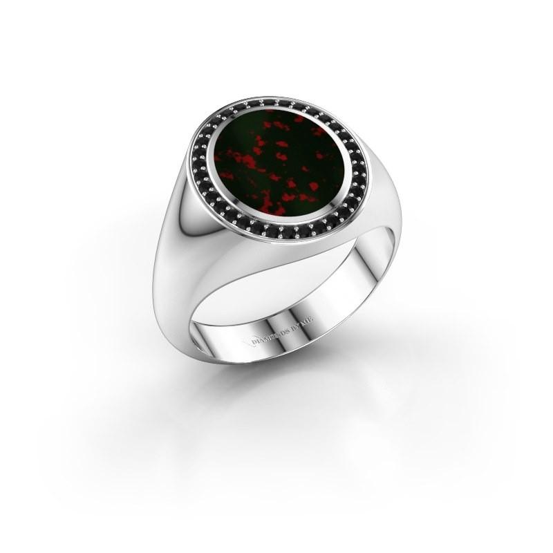 Signet ring Adam 2 950 platinum bloodstone 12x10 mm
