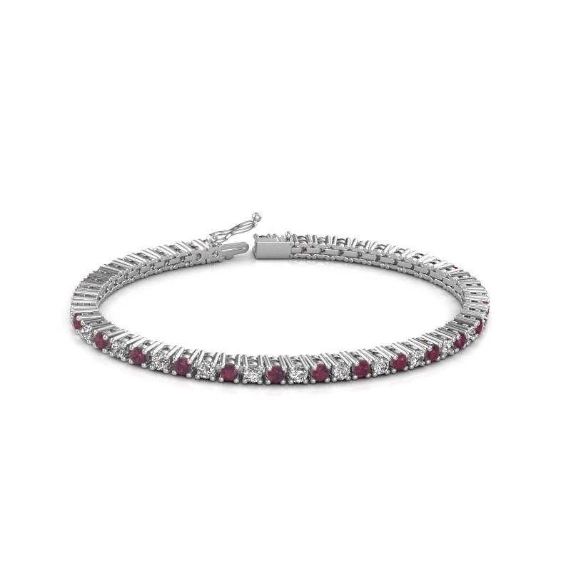 Tennis bracelet Petra 585 white gold rhodolite 3 mm
