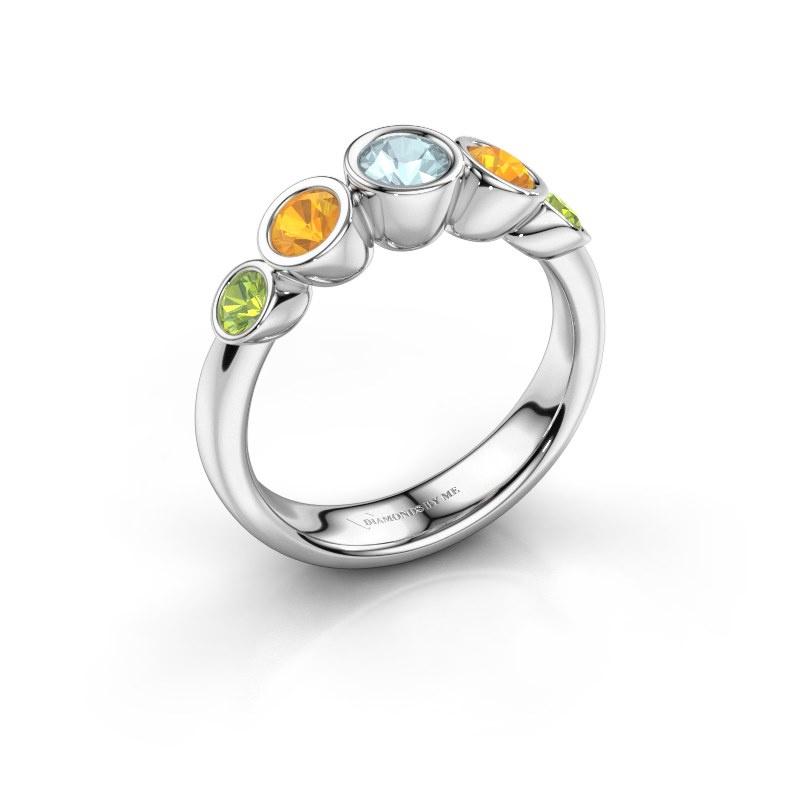 Ring Lizz 925 silver aquamarine 4 mm