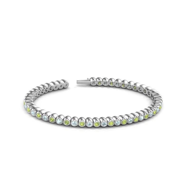 Tennisarmband Patrica 585 witgoud peridoot 2.4 mm