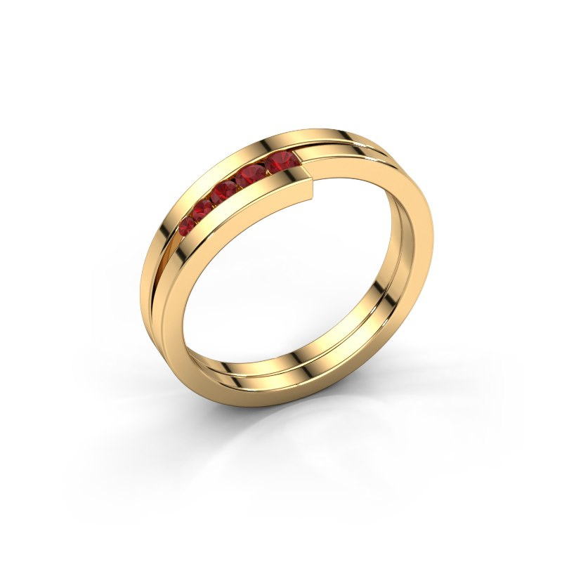 Ring Cato 585 gold ruby 2.2 mm