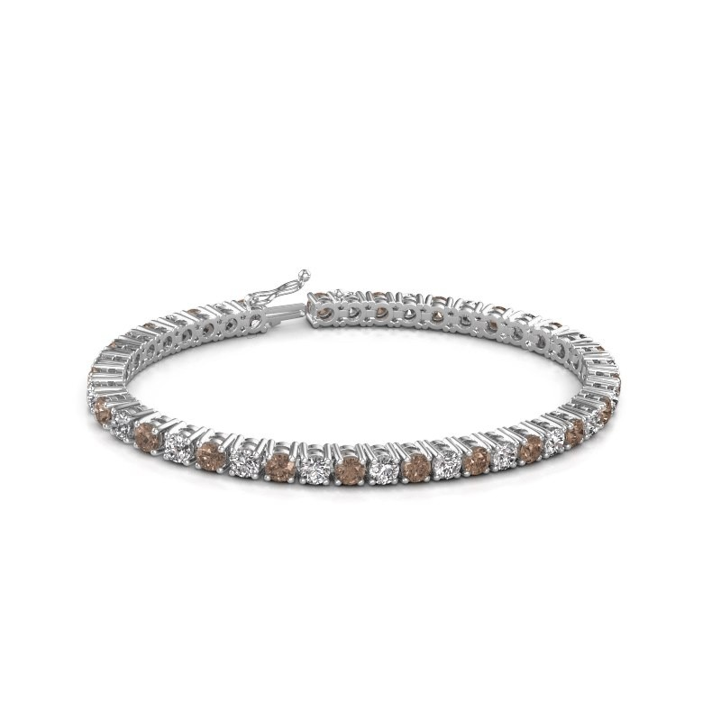 Tennis bracelet Karin 375 white gold brown diamond 10.75 crt