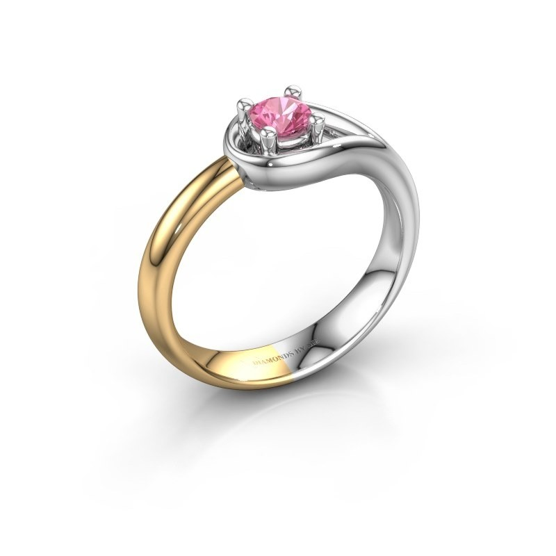 Ring Fabienne 585 white gold pink sapphire 4 mm