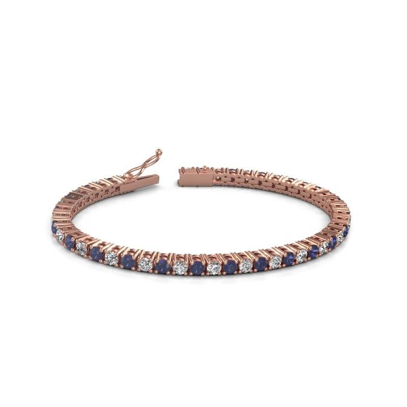 Tennisarmband Jenny 375 rosé goud diamant 4.32 crt