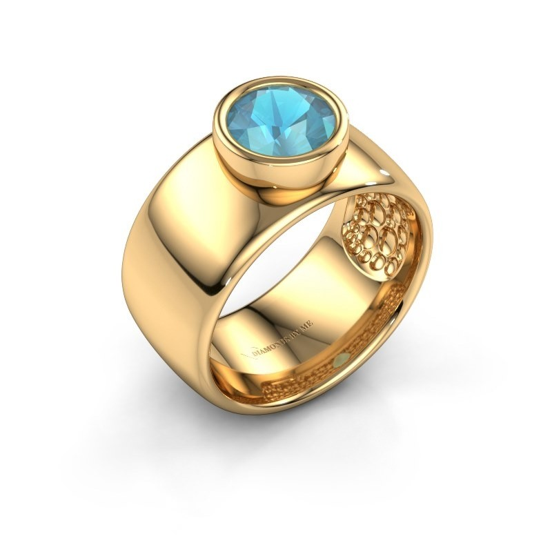 Ring Klarinda 585 Gold Blau Topas 7 mm