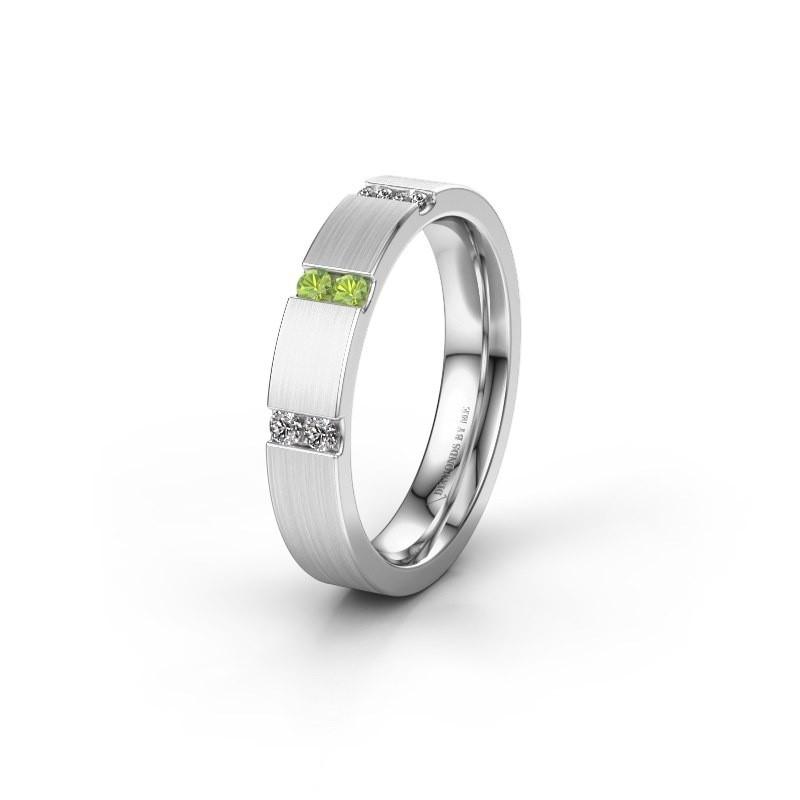 Wedding ring WH2133L14BM 950 platinum peridot ±4x2.2 mm