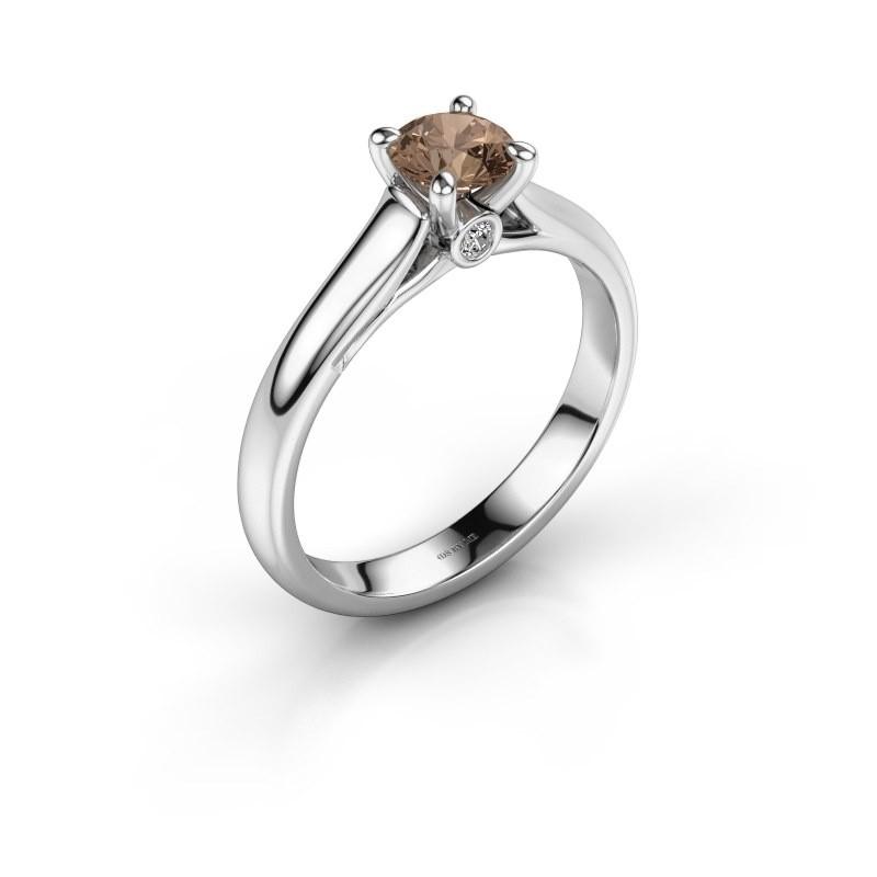 Verlovingsring Valorie 1 950 platina bruine diamant 0.50 crt
