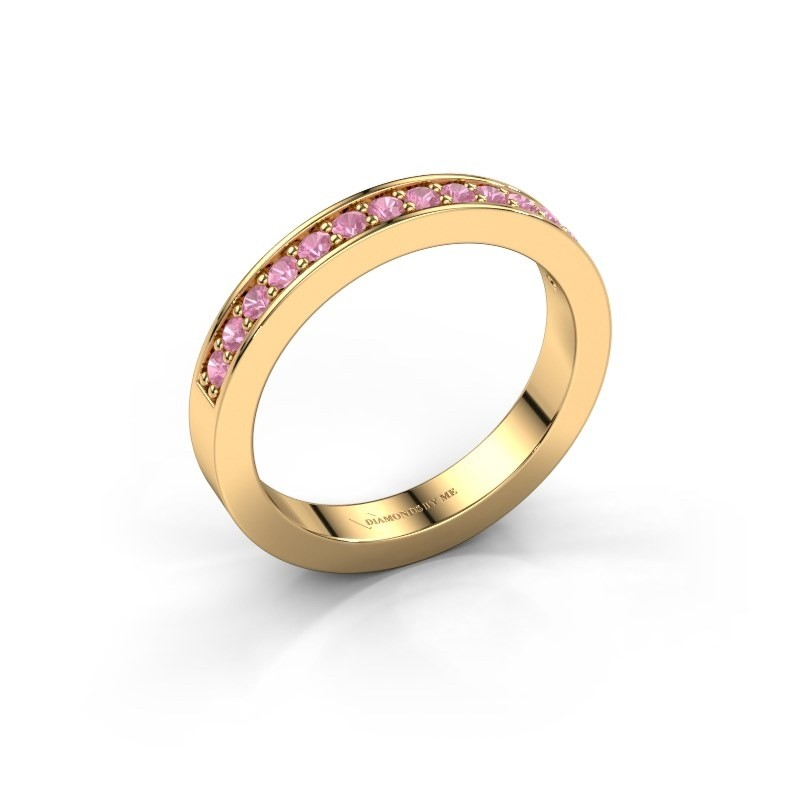 Aanschuifring Loes 6 375 goud roze saffier 1.7 mm