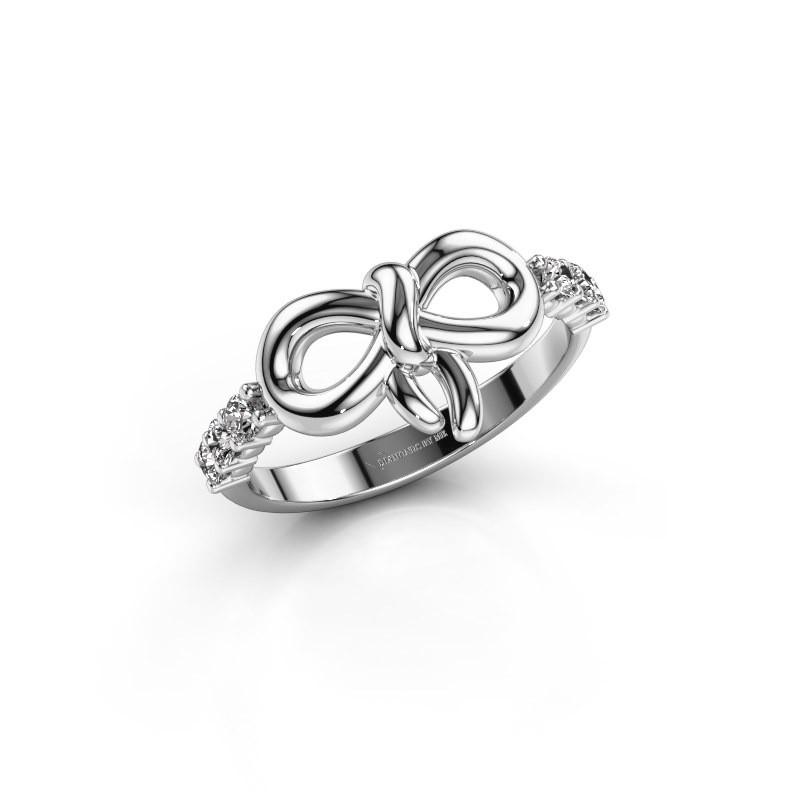 Ring Olympia 585 witgoud zirkonia 2.2 mm