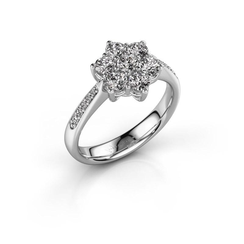 Verlovingsring Chantal 2 925 zilver lab-grown diamant 0.10 crt