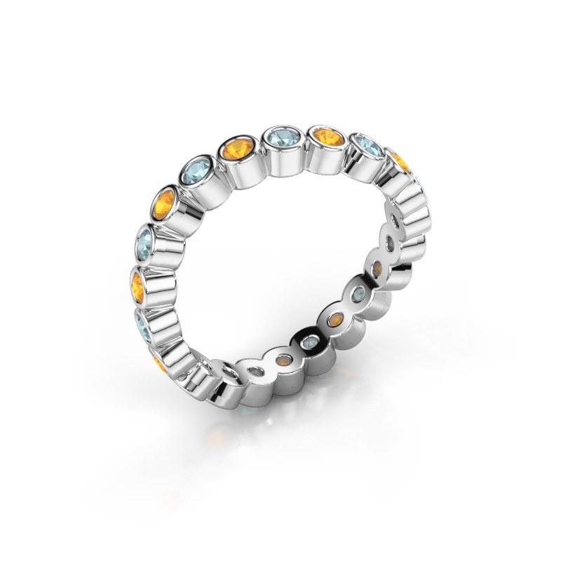 Ring Liz 585 witgoud citrien 2 mm