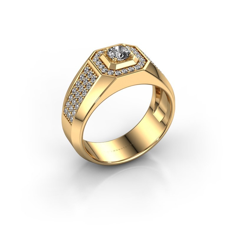 Heren ring Pavan 375 goud diamant 0.778 crt