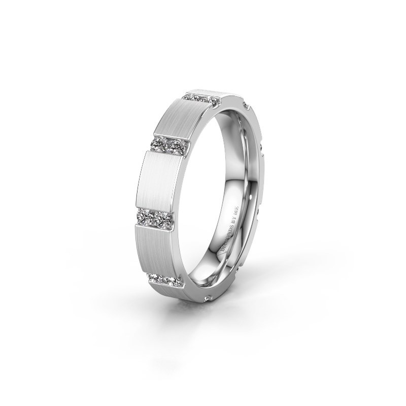 Weddings ring WH2132L14BM 925 silver lab-grown diamond ±4x2.2 mm