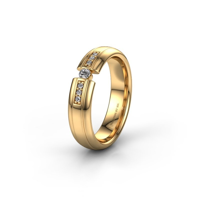 Wedding ring WH2128L26C 585 gold lab-grown diamond ±5x2 mm