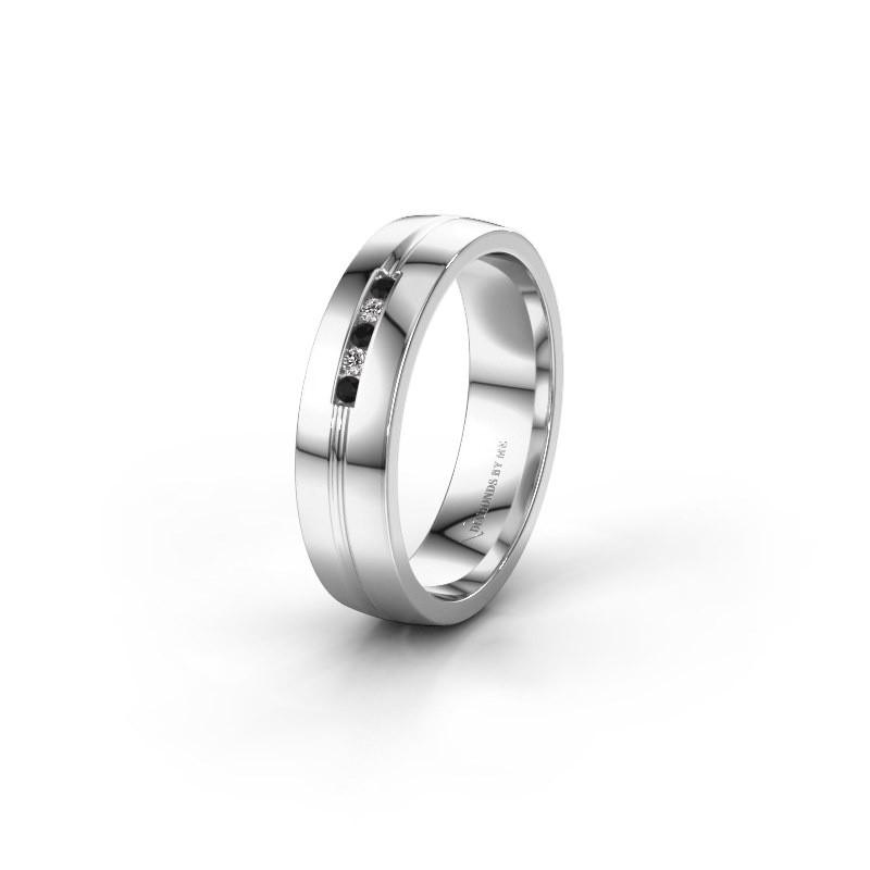 Ehering WH0132L25B 925 Silber Schwarz Diamant ±5x2 mm
