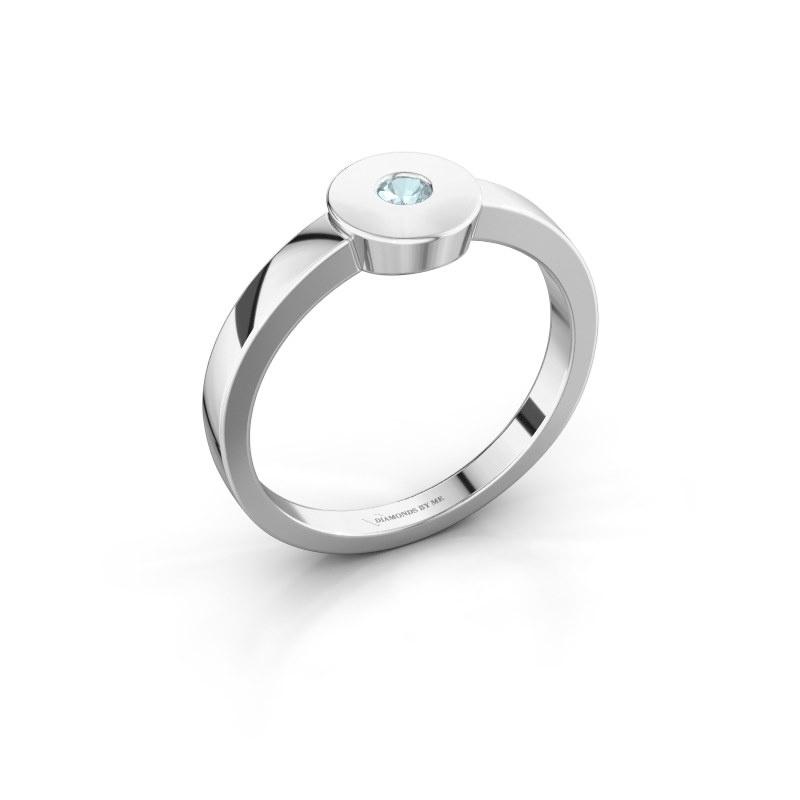 Ring Elisa 950 Platin Aquamarin 3 mm