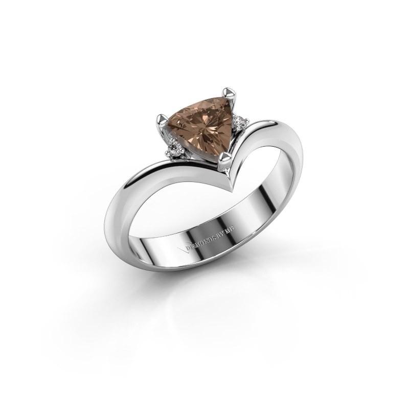 Ring Arlette 925 zilver bruine diamant 0.915 crt