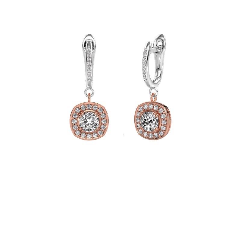 Oorhangers Marlotte 2 585 rosé goud diamant 1.365 crt