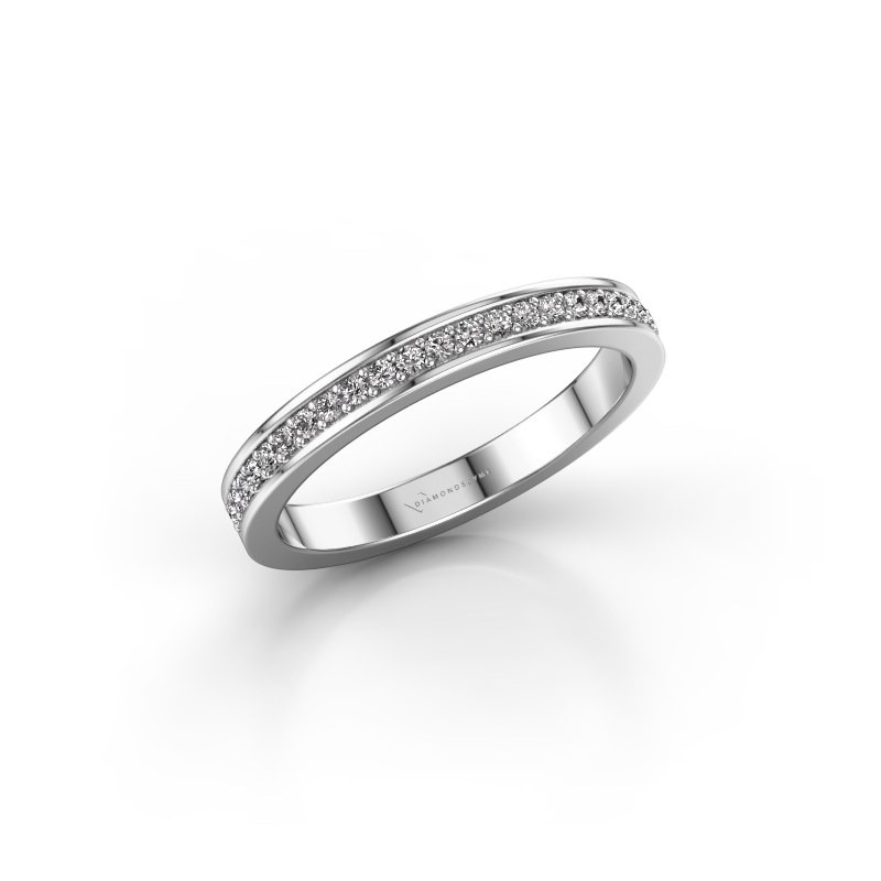 Aanschuifring SRH0030B20H4 585 witgoud diamant 0.173 crt