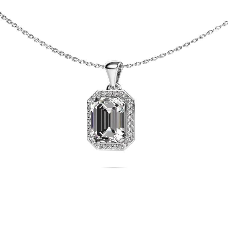 Ketting Dodie 585 witgoud lab-grown diamant 2.65 crt