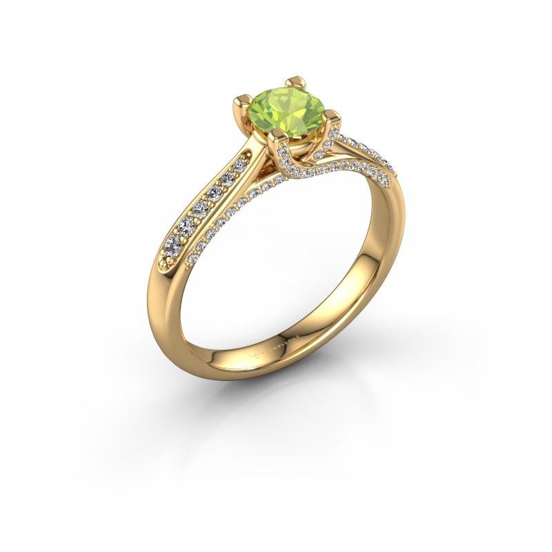 Verlovingsring Mia 3 375 goud peridoot 5 mm